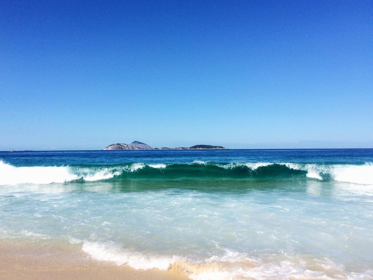 Ipanema Beach Ipanema Beautiful Life Is A Beach Beach Rio De Janeiro Open Edit Ocean View IPhoneography Surf's Up Blue Wave