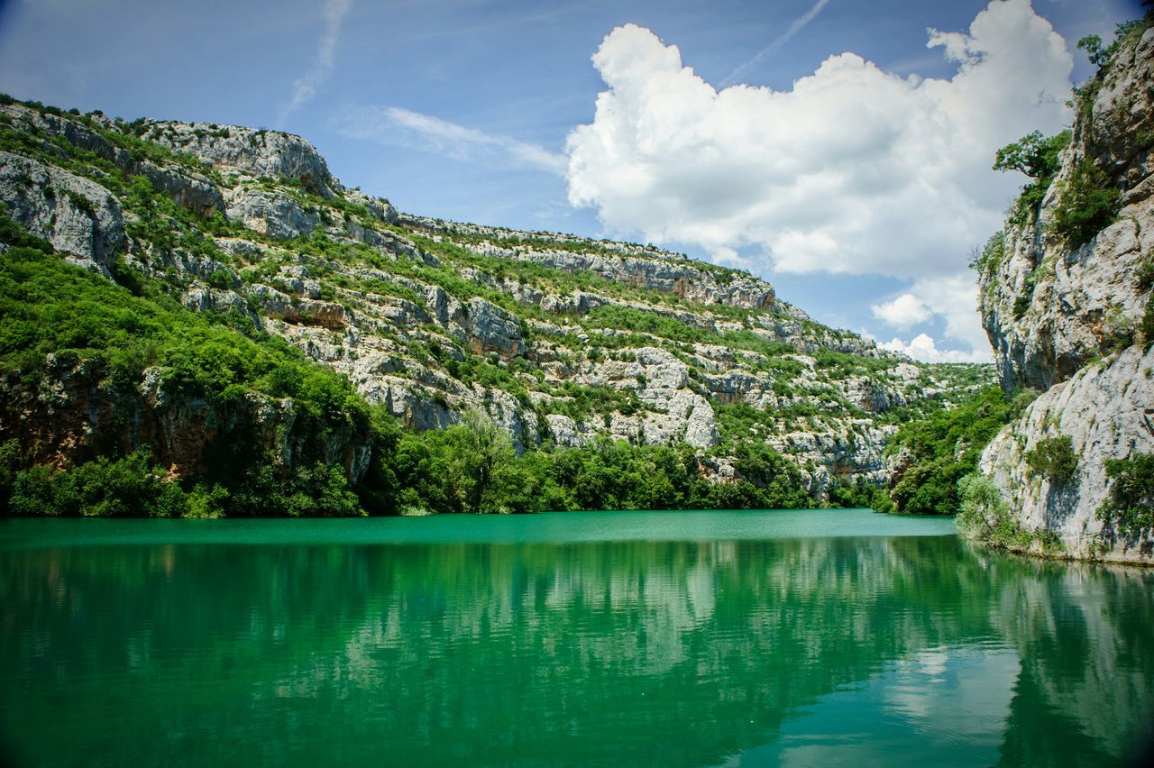 Water Landscape Blue Lake Tourism Nature No People Outdoors Vacations Relaxation Krka Krka National Park Krka, Croatia