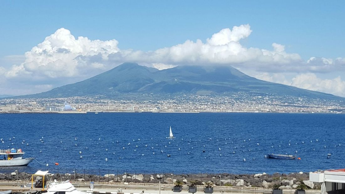 Panaromic Photos Panoramic Landscape Napoli Vesuvio Golfo Di Napoli Mare Panoramic Photography Napoli Italy