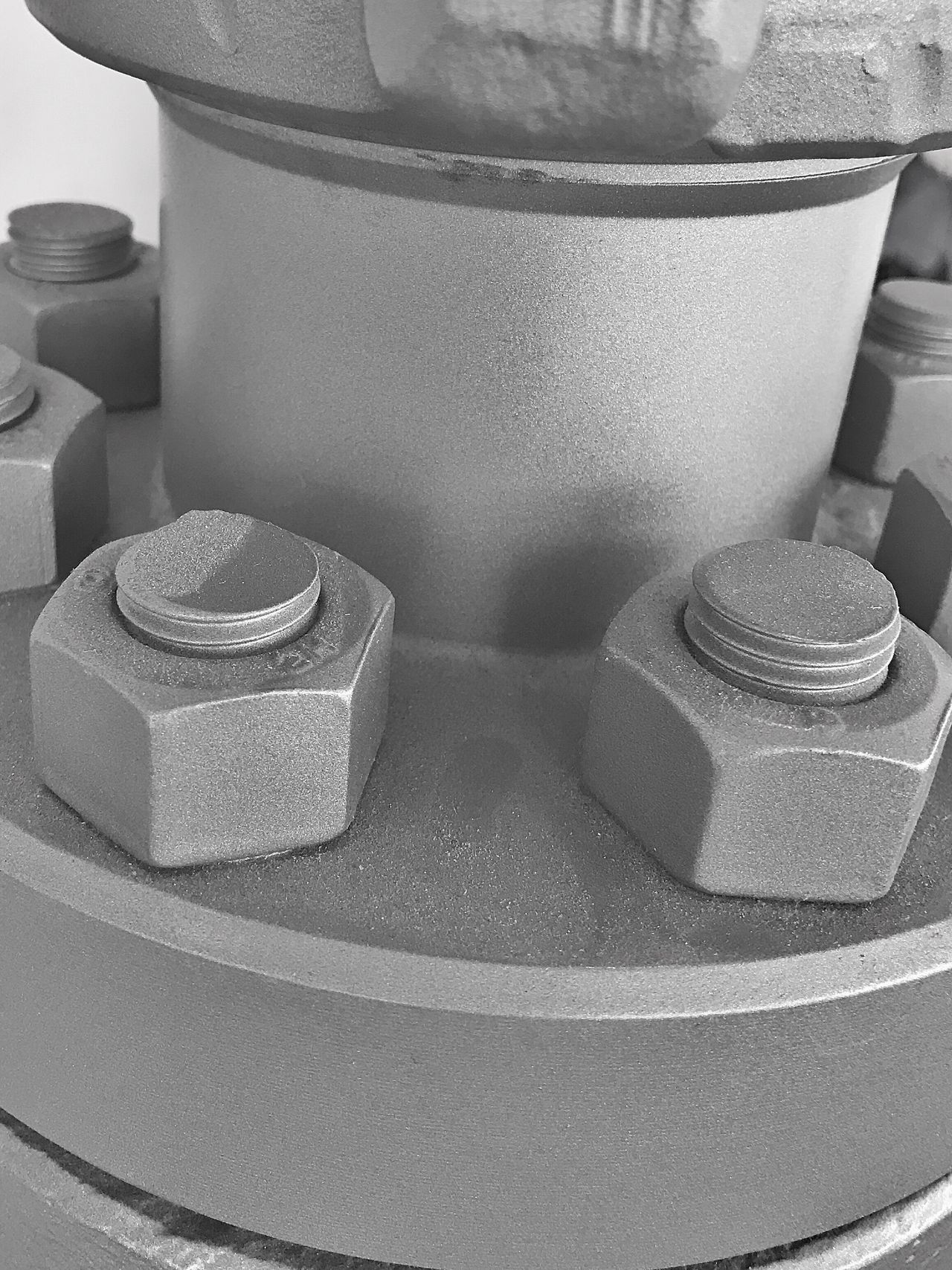 Pipe Nuts And Bolts Pipeline Close-up Industry Work Business