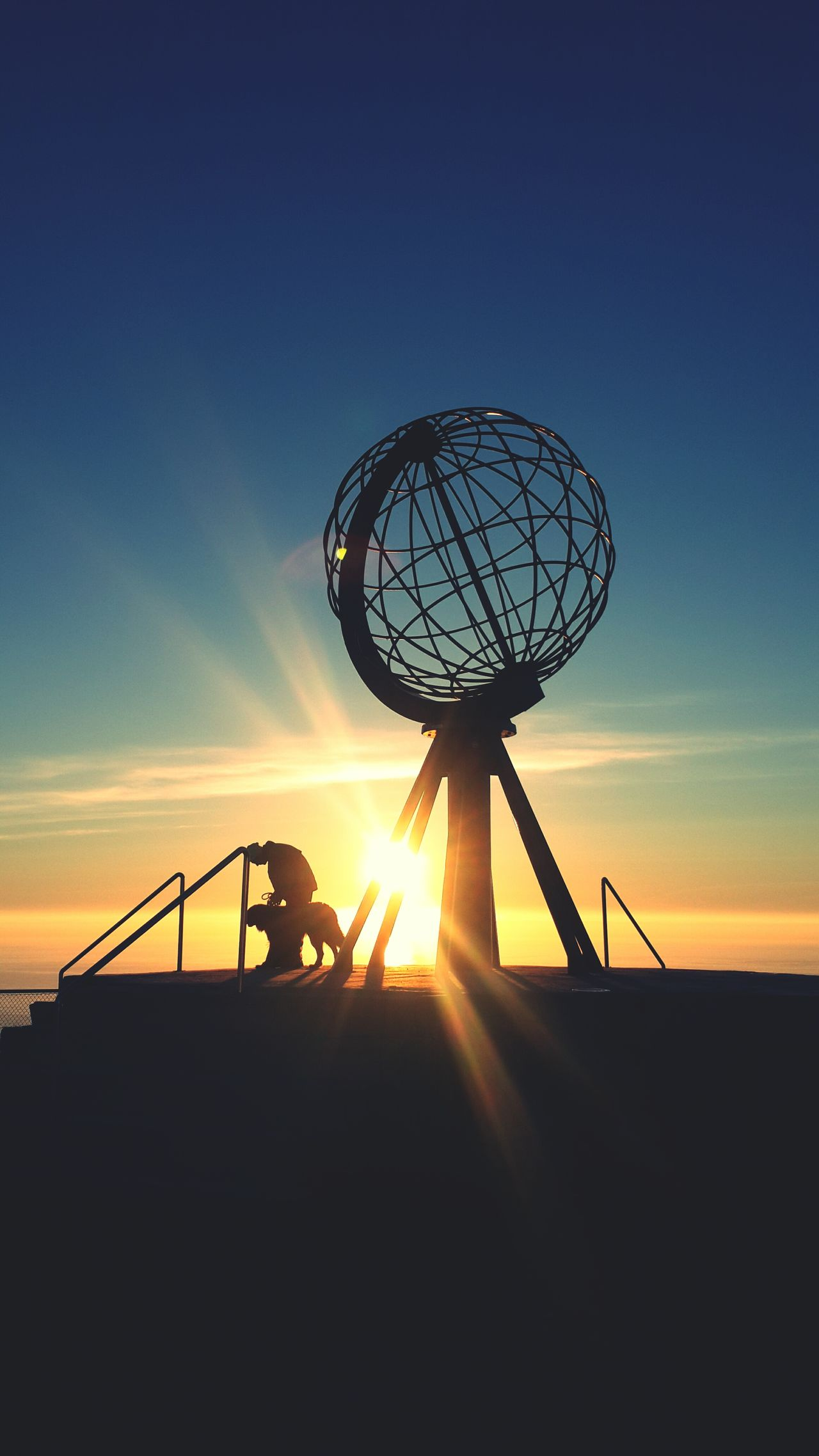 Midnightsun Midnight Sun Nordkapp Norway Dog Sunset Sillhouette Color Of Life