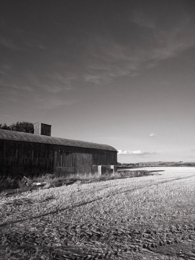 Built Structure Architecture Building Exterior Surface Level Drive Home Barns Remote Farm Horizon Over Land No People Cloud - Sky Scenics Agriculture Bnw Bnw_collection Black And White Photography Outdoors Rural Scene Nature Monochrome Photography