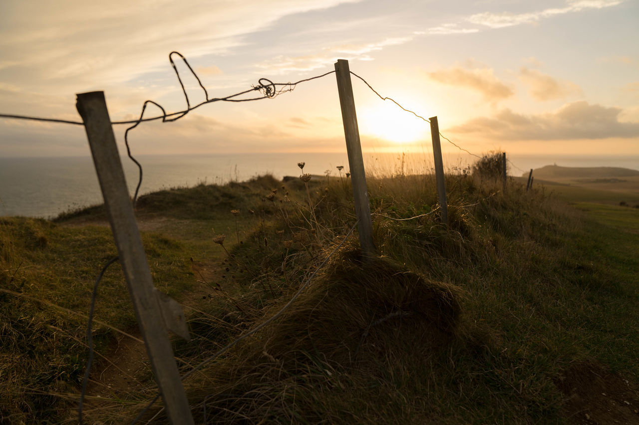 Beachy Head Beauty Beauty In Nature Eastbourne Grass Landscape Nature No People Plants Sky Suicidespot Sunset The Theuk Windy