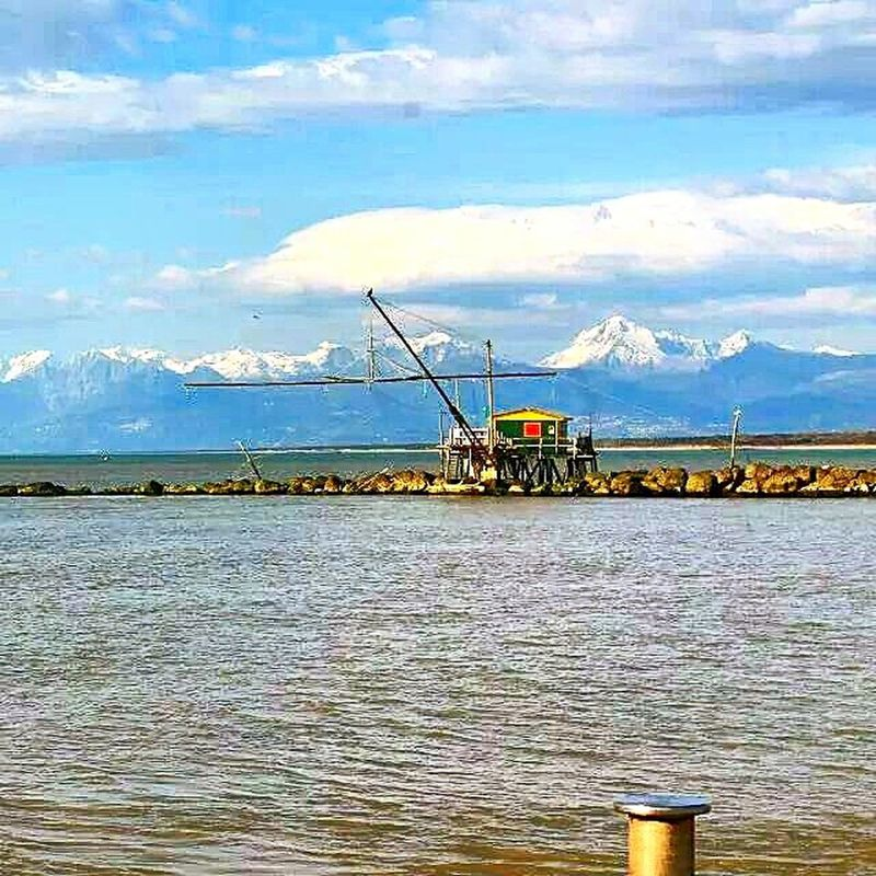 Sea Cloud - Sky Nautical Vessel Fishing Fishing Tackle Horizon Over Water Nature The Great Outdoors - 2017 EyeEm Awards Travel Destinations Pisa, Italy Marina Di Pisa Italy🇮🇹
