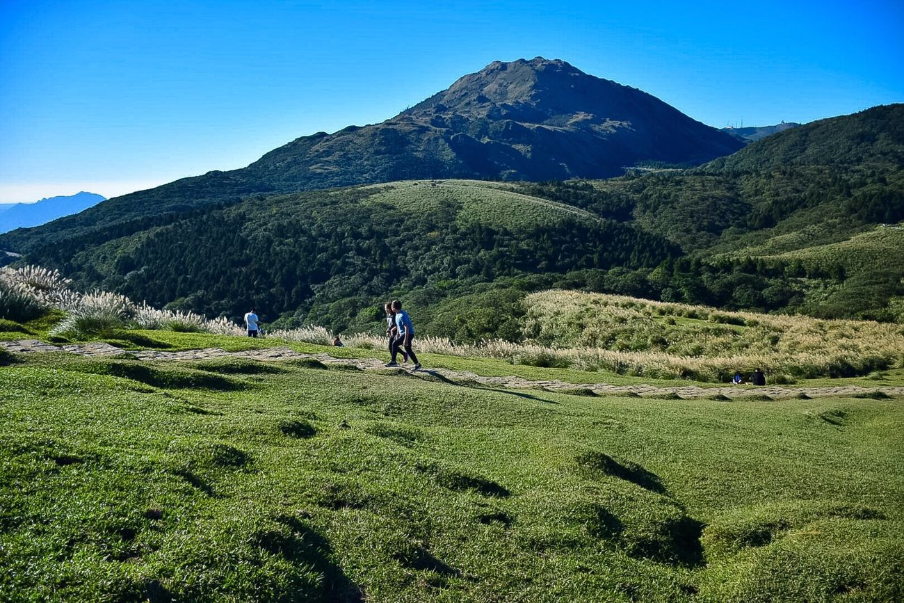 Yang Ming Shan  Taipei Mountain Nature Landscape Hiking Beauty In Nature Outdoors Walking Travel Destinations Vacations Grass Clear Sky Vacations Taiwan 2016 Finding New Frontiers