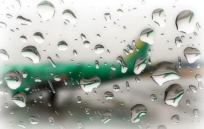 Drop Of Water From An Airplane Window Rain Airport AirPlane ✈ Airplane