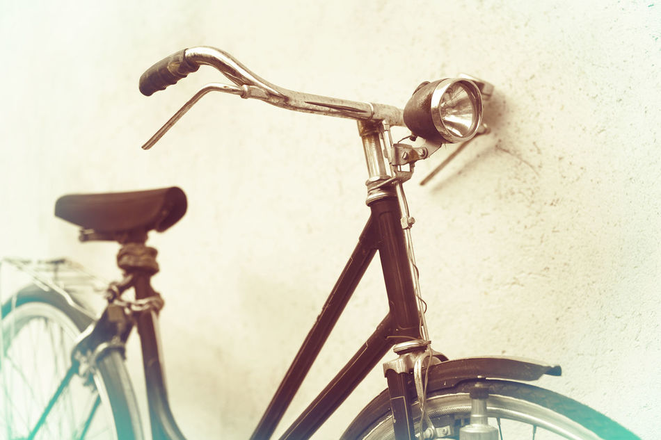 beautiful Old rusty bicycle retro with awesome effect colors on grunge grey background outodoors.. Old, Retro, Vintage, Bicycle, Street, Bike, Transport, City, Urban, Background, White, Style, Travel, Wall, Classic, Bycicle, Cycle, Photography, Lifestyle, Art, Black, Day, Summer, Color, Cycling, Hipster, Sport, Road, Design, Rusty, Aged, Antique, Outdo