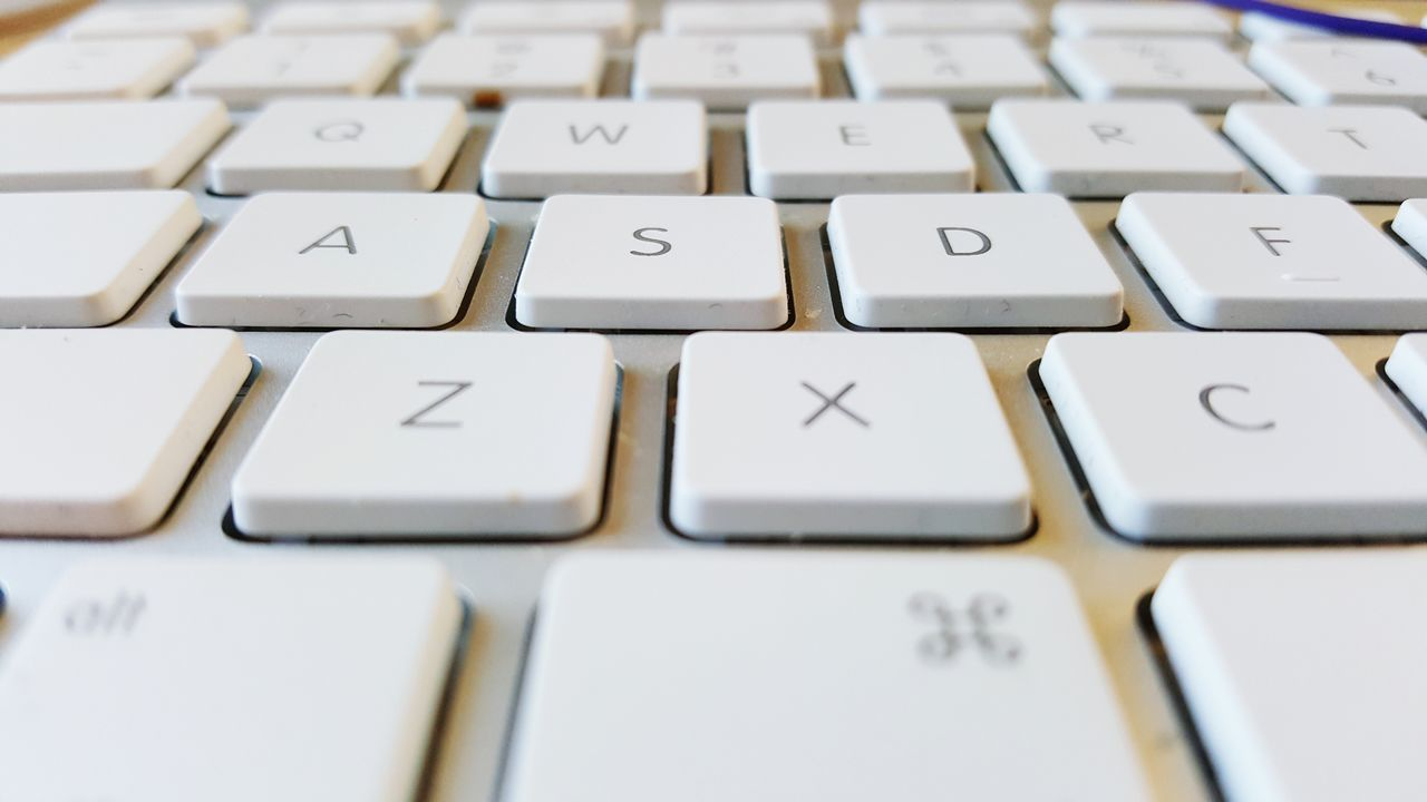 computer key, computer keyboard, full frame, no people, close-up, technology, connection, text, keyboard, alphabet, backgrounds, computer, indoors, day