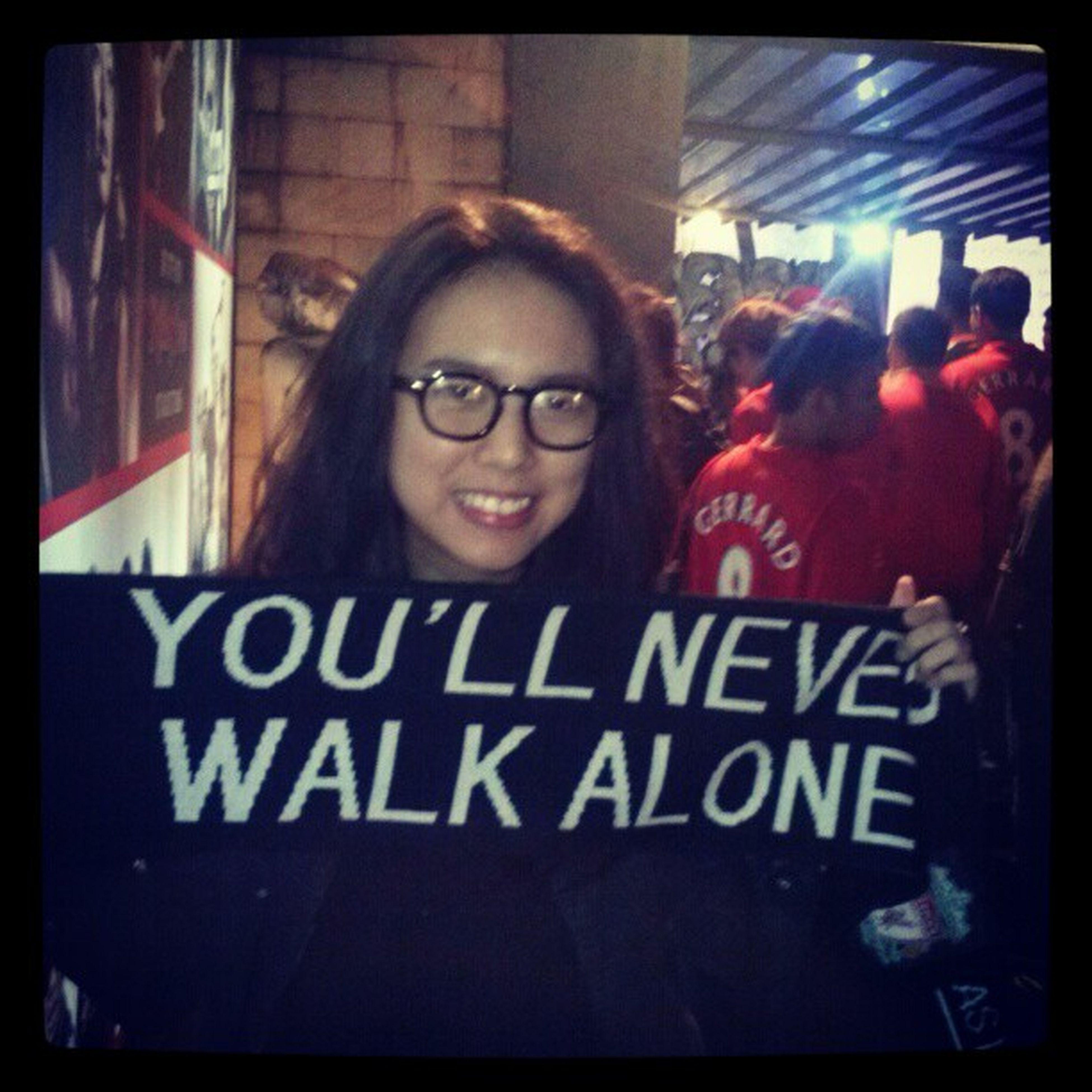 Thanks to @dellanyt , for accompanied me to watch LFC game YNWA Lfc cc @bigreds_iolsc