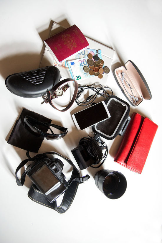 travel essentials on white background Camera - Photographic Equipment Close-up Day Directly Above High Angle View Indoors  Large Group Of Objects Lens Money No People Passport Phone Purse Still Life Sunglasses Tablet Technology Tourism Travel Travel Equipment Travel Essentials Traveling White Background White Backround Wristwatch Let's Go. Together.