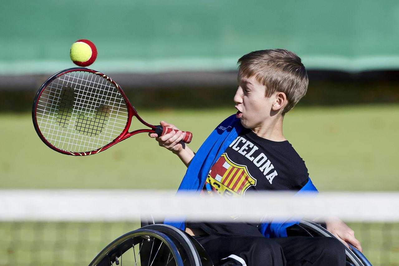 Focus On Foreground Hungary Outdoors Parasport Selective Focus Sport Szeged Tenis