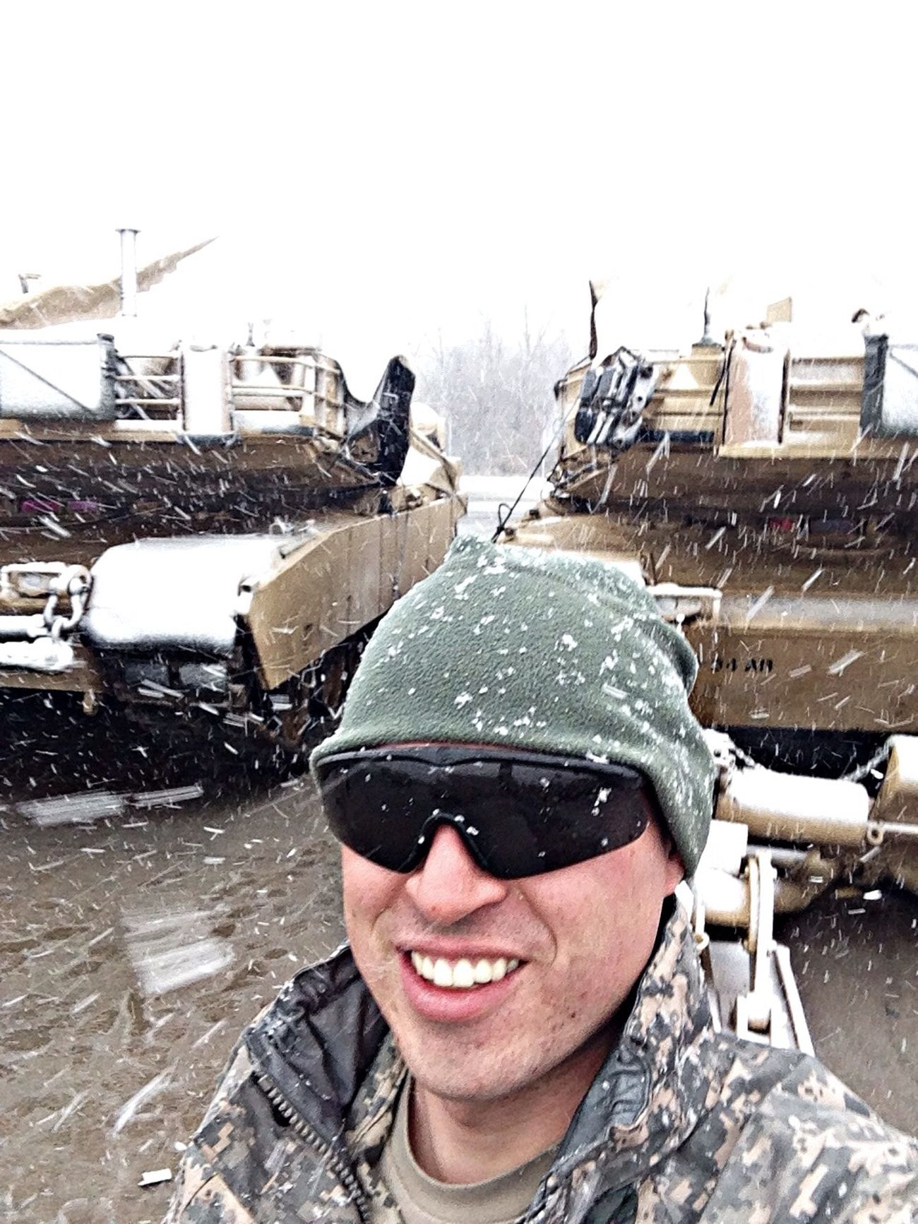 Supersize Yourself With Whitewall Oh, wintertime in Kansas... Army Life Self Portrait