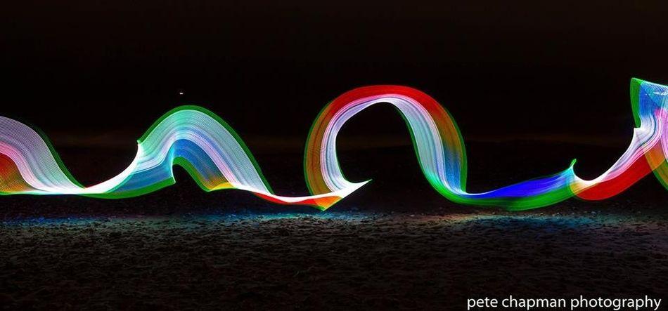 Hengistbury Head Long Exposure Light Painting Rainbow Light Trails Homemadelightstick Light Stick