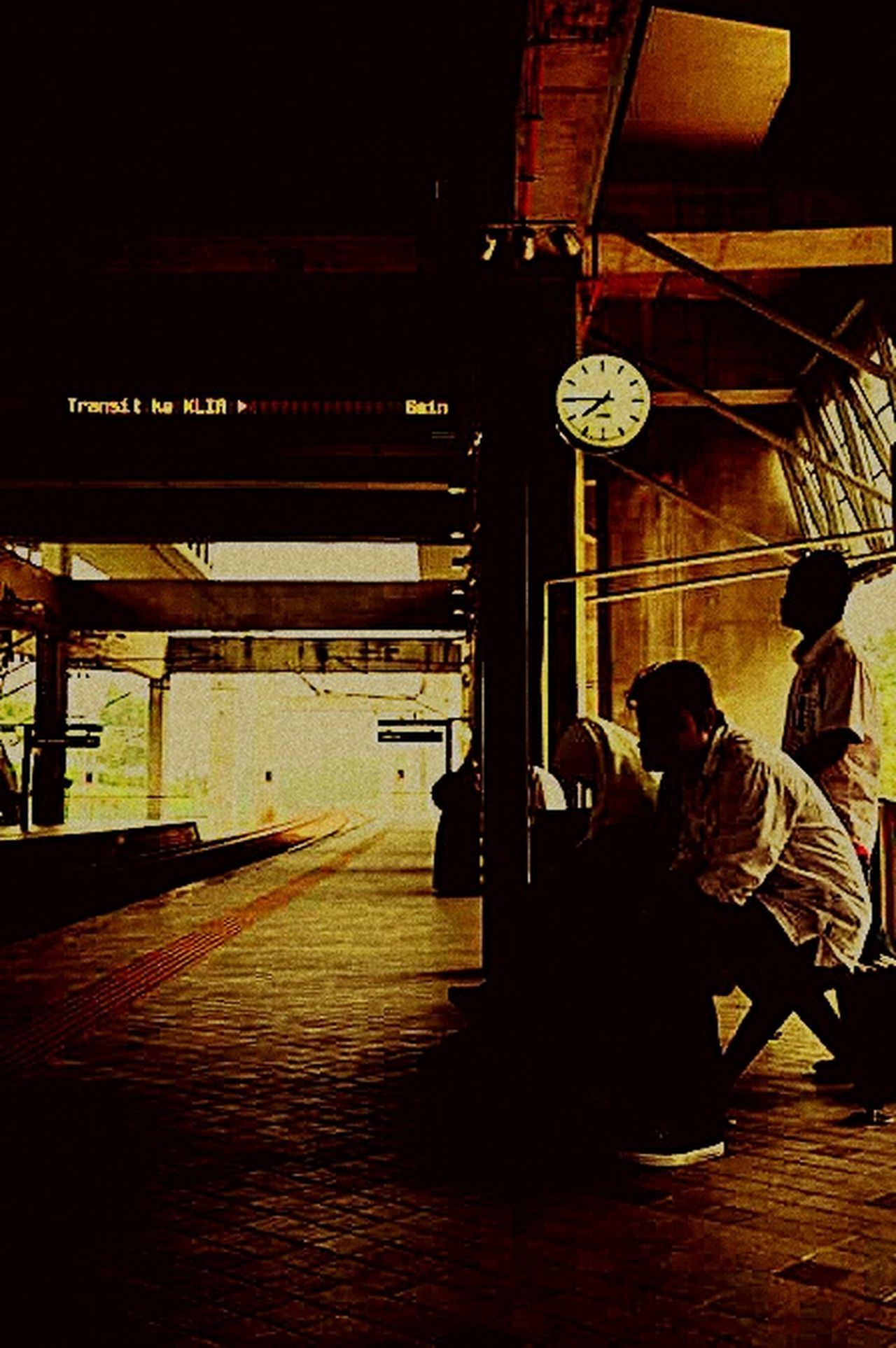 Indoors  Public Transportation Railroad Station Nature Miss My Love Clock Time N My Baby Boy Adam..