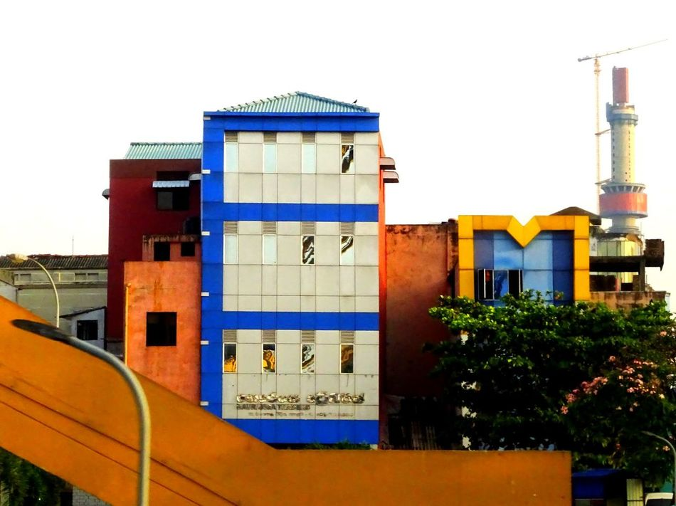 Architecture Building Exterior City Built Structure Outdoors Multi Colored Day No People Telephone Booth Sky Colors Travel Photography Colombo, Sri Lanka EyeEm SriLanka Sri Lanka EyeEm Travel Photography Travel Destinations