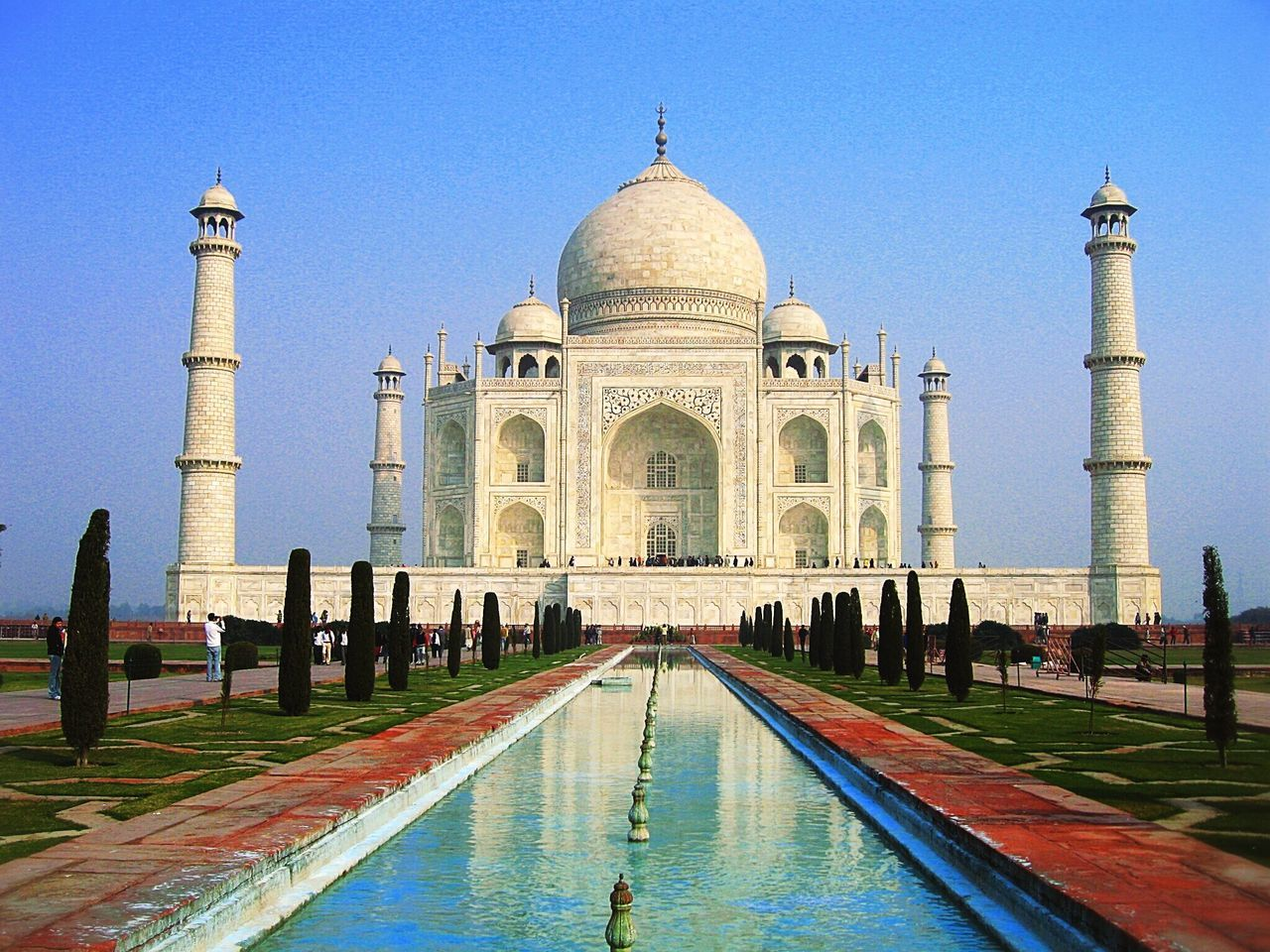 Beautiful stock photos of indien, Agra, Diminishing Perspective, India, Taj Mahal