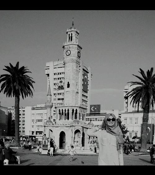 Self Portrait Around The World Have A Nice Day! İzmir Clock Tower  ⭐🌞 Izmirkonak Fun !