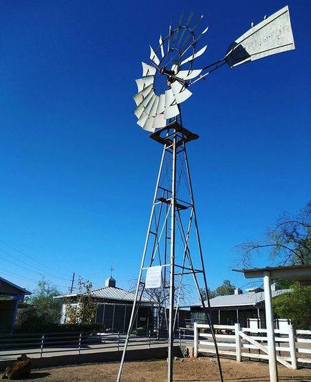 Windmills always strike an elegant pose. Phoenixzoo Windmill ASU ASUDiaries Sundevil  Clearsky Blue