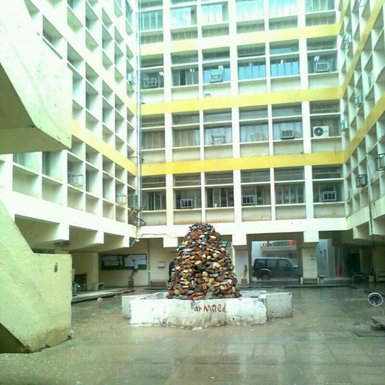Oldpicture of my College Center in a Rainning Day