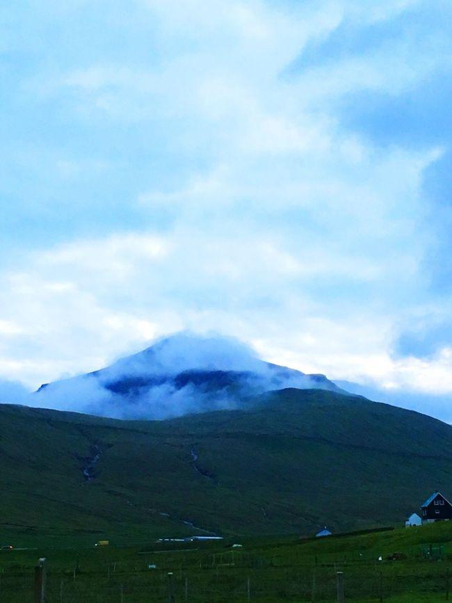 Iphonephotography Faroe Islands Foggy Mountain
