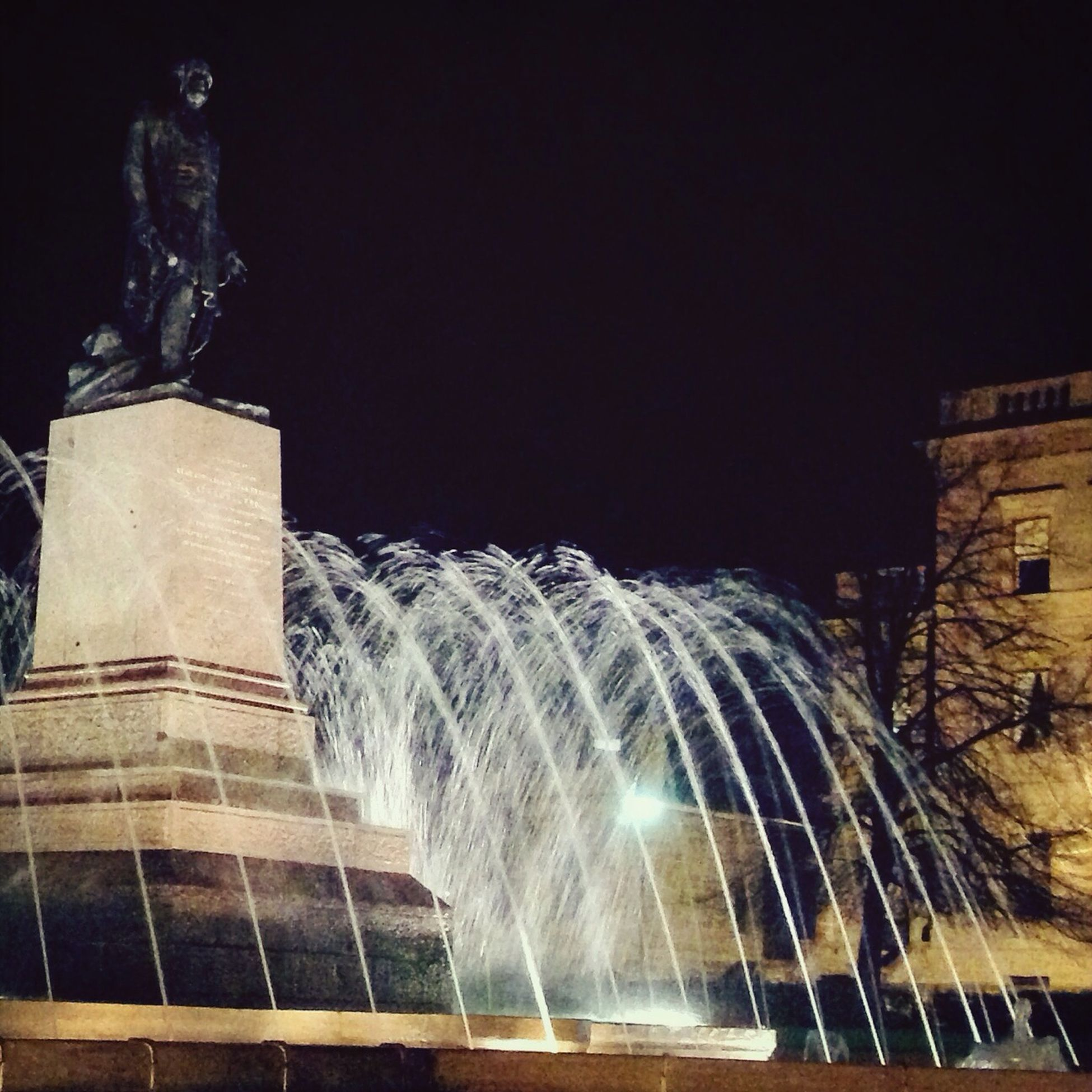 Franklin Square Fountain at Midnight Hobart Tasmania Fountain Iphonephotography