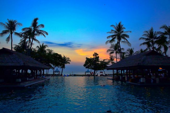 Bali Beautiful Sunset Beach Photography Clouds And Sky Traveling Photography Landscape_photography Traveling Poolview