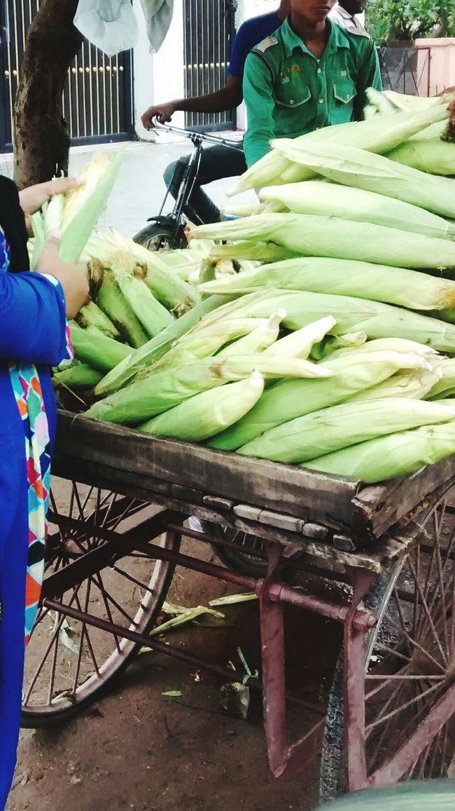 Corn Oldways Foodporn Sell Green India Indian Culture  Buyfood Food Rural Poor