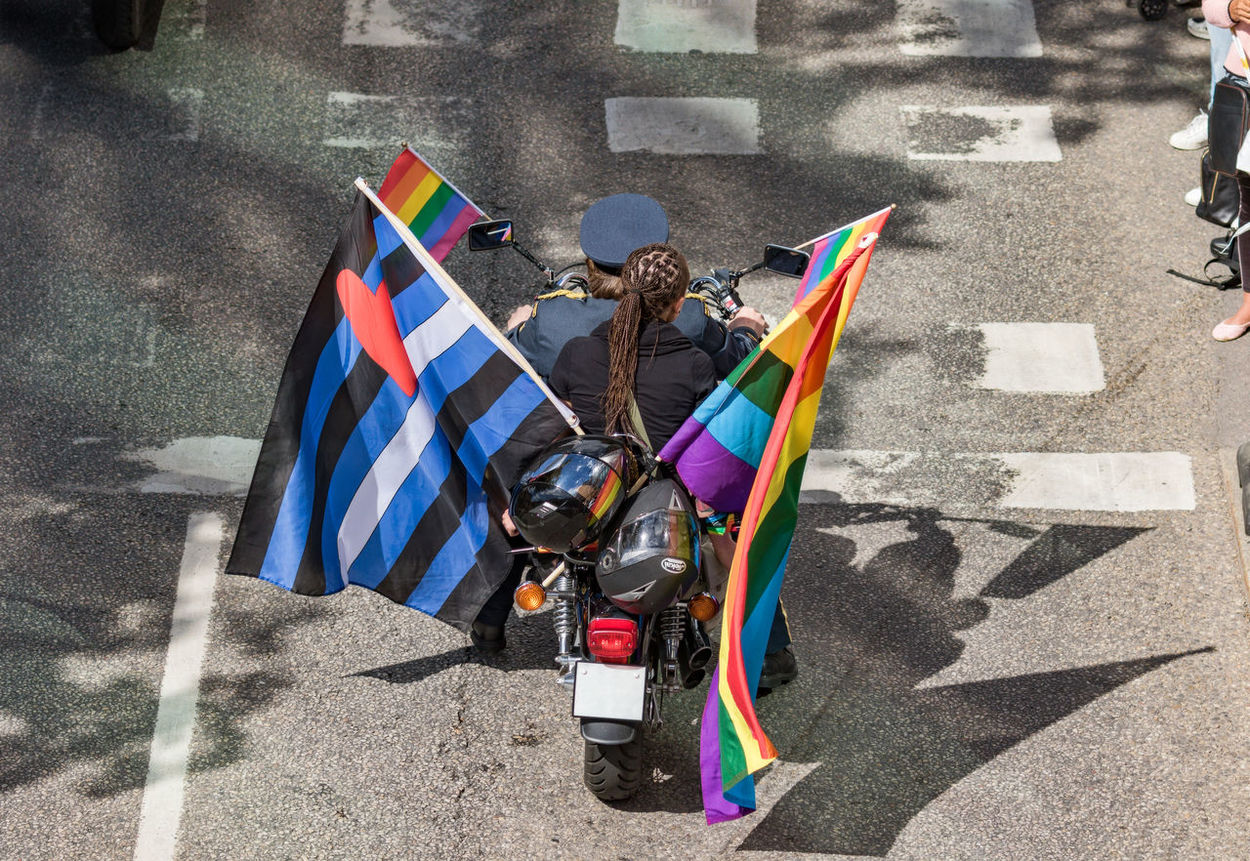 Stockholm Pride Parade 2017 Stockholm Pride 2017 Day Flag Flags Lgbt Motocycle Outdoors Parade Pride Parade 2017