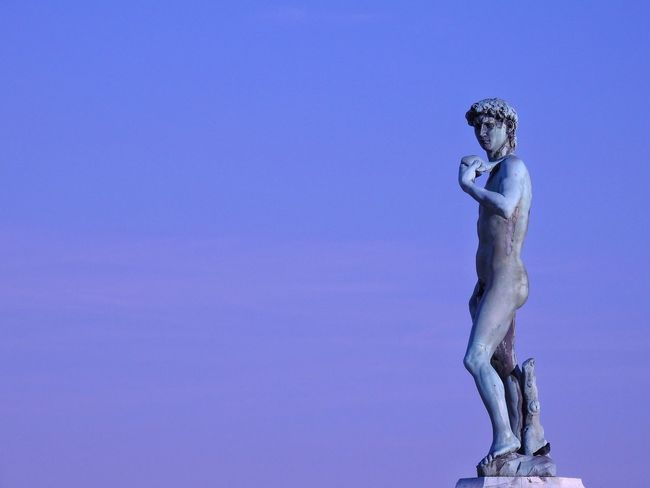 David David Statue Of David Florence Italy Italy Firenze The Best City In The World Colour Statue David Blue Human Representation Outdoors Motion Day Blue No People Nature Close-up Sky