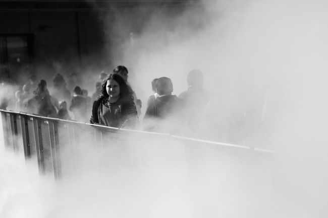 Fog San Francisco Street Portrait Young Women Film Noir Foggy Focus On Foreground Independence