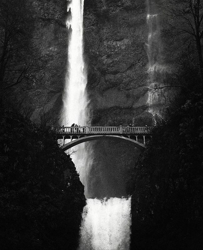 Ilfordfilm Ilford Filmisnotdead Filmphotography Blackandwhite Blackandwhiteisworththefight Fortheloveofblackandwhite Canonetql17 Canonet Canon Canon_official VintageCamera Vintagelens Pnwwonderland Pnwcollective Pacificnorthwest Pacificnorthwestisbest Oregon MultnomahFalls Analoguephotography Analogue