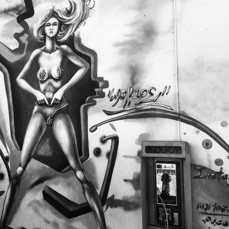 Pay Phone - an pop culture artifact, ubiquitous in the 20th century, now rarely seen Black And White Street Art Street Photography Notes From The Underground