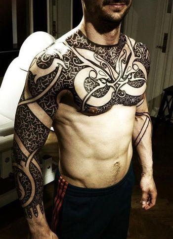 People Tatoo Tattoo Color Portrait