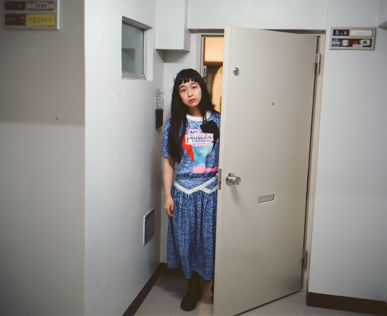 Asai Asian  Casual Clothing Day Film Front View Home Japan Kodak Kodak Portra Lifestyles Makina67 Person Plaubel Makina 67 Portrait Tokyo