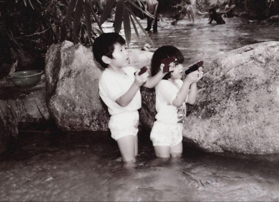 Beautiful stock photos of gun, Boys, Brother, Child, Childhood