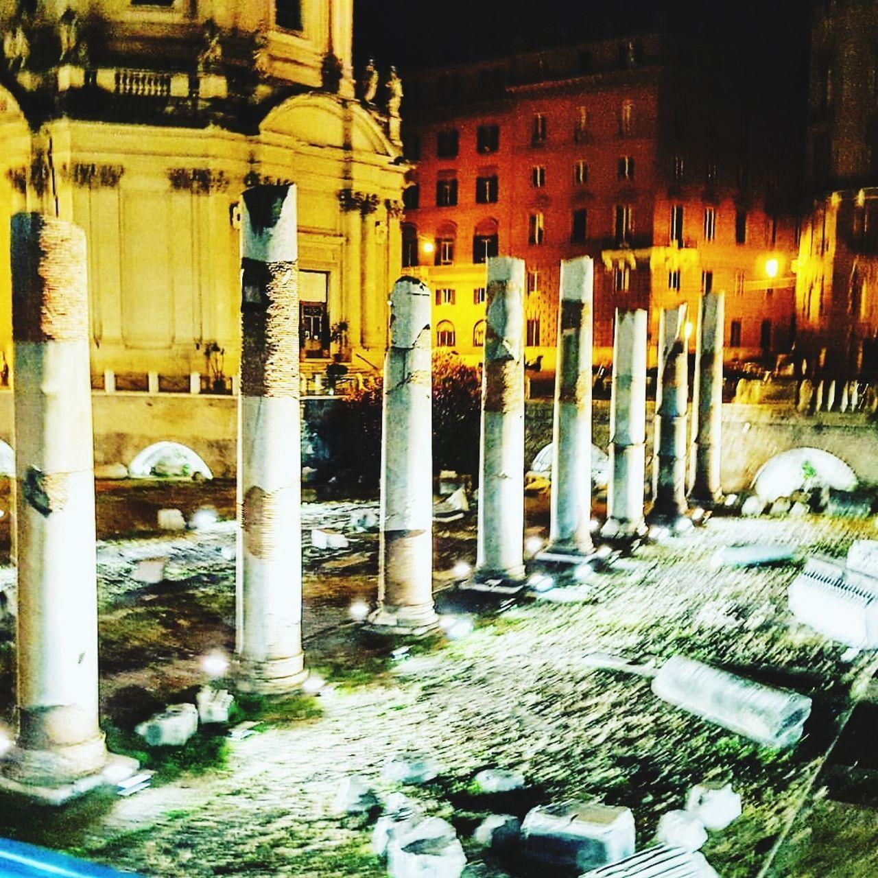 Architectural Column Architecture Illuminated Outdoors Rome Italy Travel Destinations