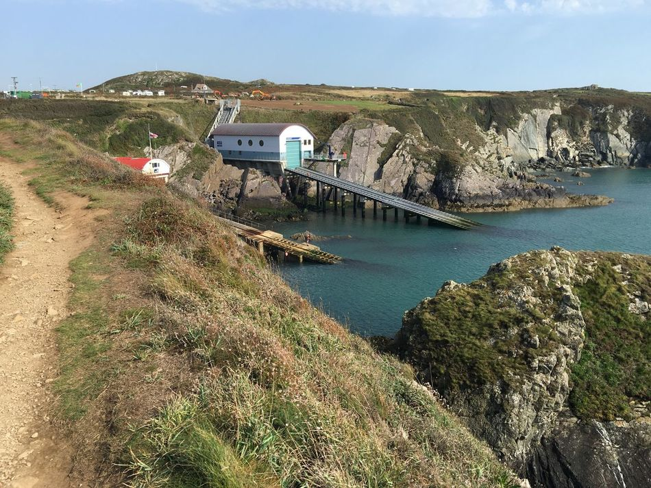 Lifeboat Station Haverfordwest St David's Coastal Path Pembrokeshire Wales Sea And Sky Cliffs
