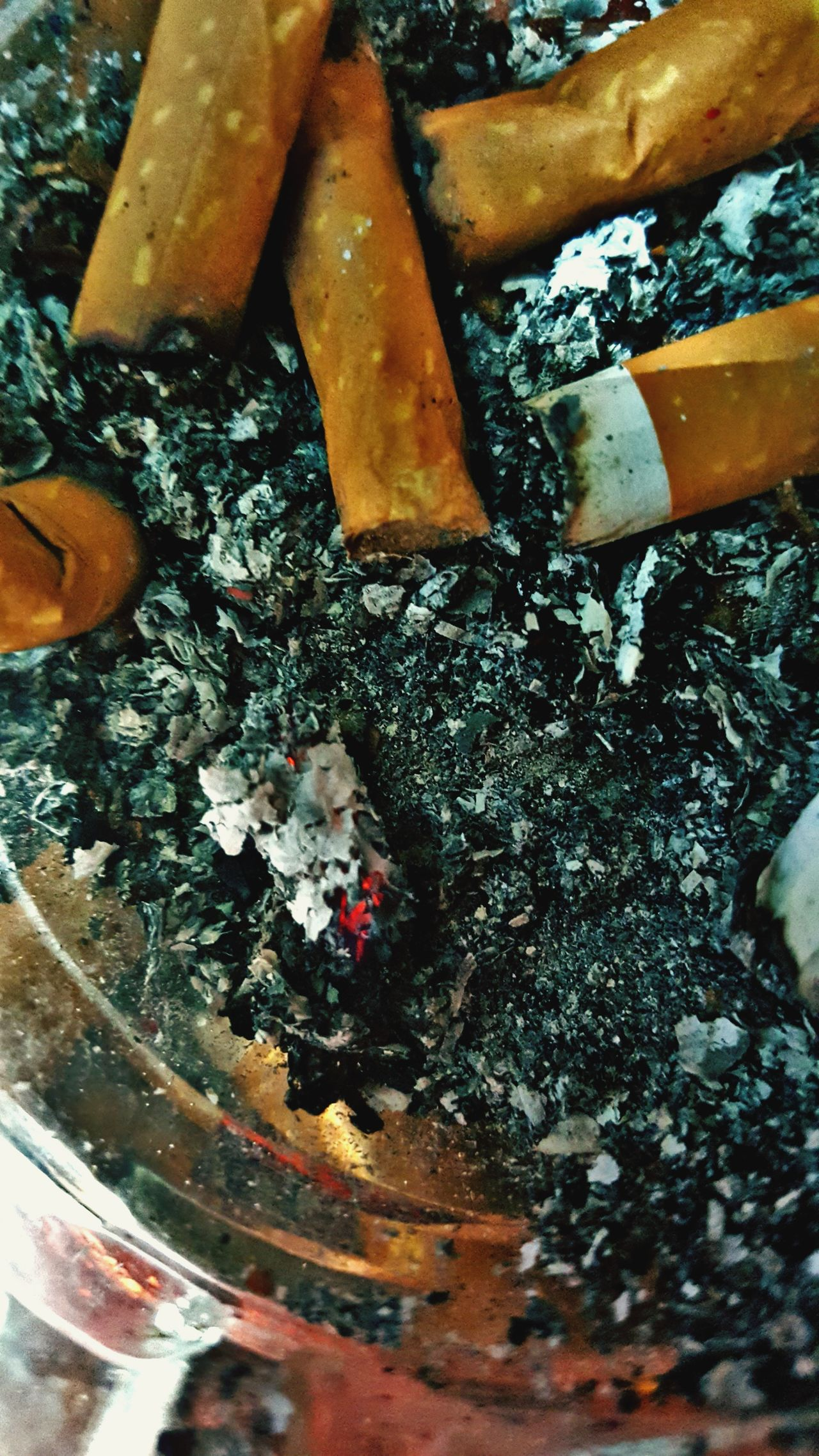 Smoking Issues Addiction Bad Habit Ashtray  RISK High Angle View Indoors  Close-up No People Social Issues Ash Food Day Freshness