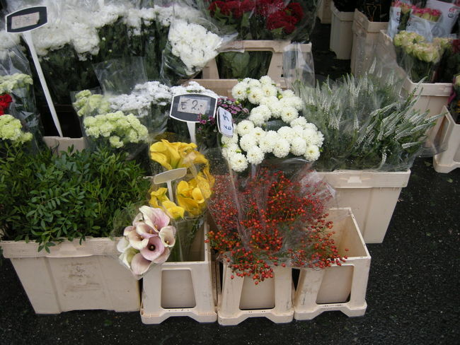 Beauty In Nature Bouquet Day Flower Flower Arrangement Flower Head Flower Market Flower Shop For Sale Fragility Freshness Gift Growth High Angle View Horizontal Market Stall Nature Neat No People Outdoors Plant Variation