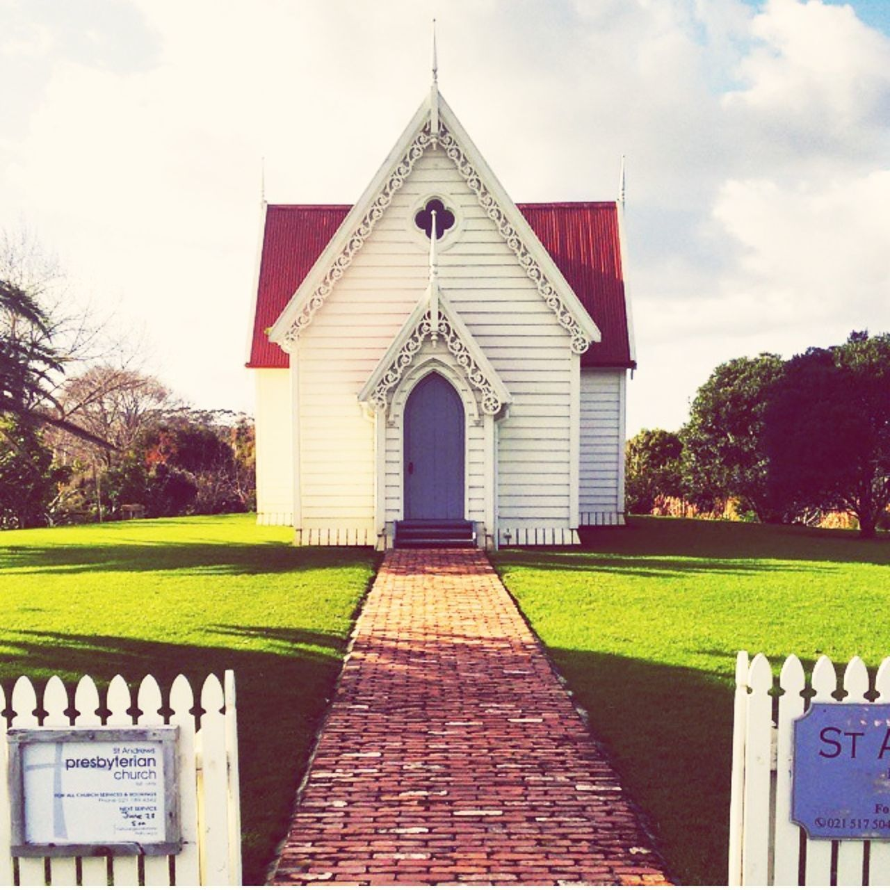 New Zealand charm Newzealand Charm Matakana  Church Picturesque Country Life