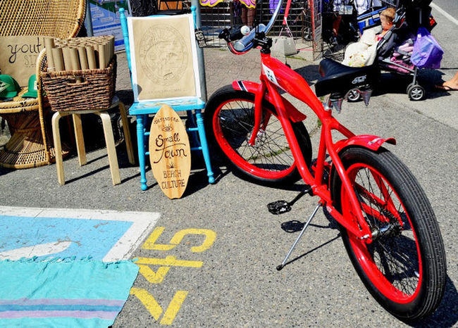 the red bike Enjoying Life