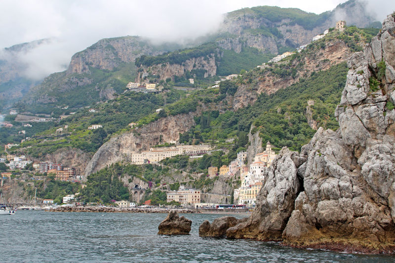 Ravello, on the Amalfi Coast Amalfi Coast Amalfiküste Beauty In Nature Cloud Cloud - Sky Hill Idyllic Italy Italy❤️ Landscape Landscape #Nature #photography Landscape_Collection Landscape_photography Mountain Mountain Range Nature Ravello River Rock Formation Scenics Sky Town Travel Destinations Water Waterfront
