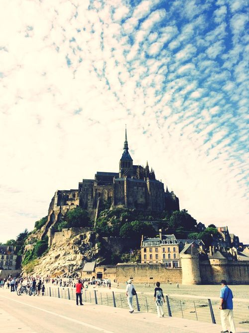 First Eyeem Photo Seeing The Sights Francepics My Best Photo 2015 Mont Saint-Michel Mont Saint Michel Montsaintmichel Abbey Church Island Seaside Sea Sky Blue Sky Old Church Great Place Magical Magic Places Magic Place Monuments Monument Day Beautiful Beautiful Day Sightseeing