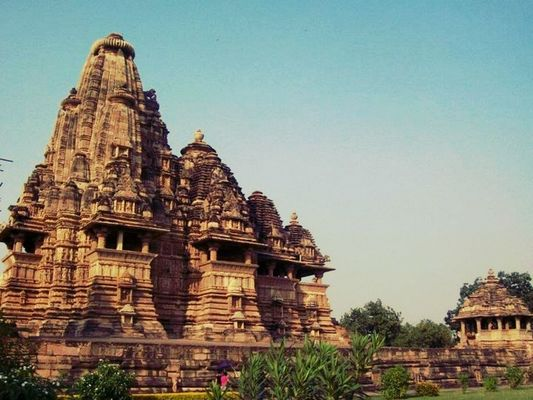 Checking in at khajuraho by Viraj Verma