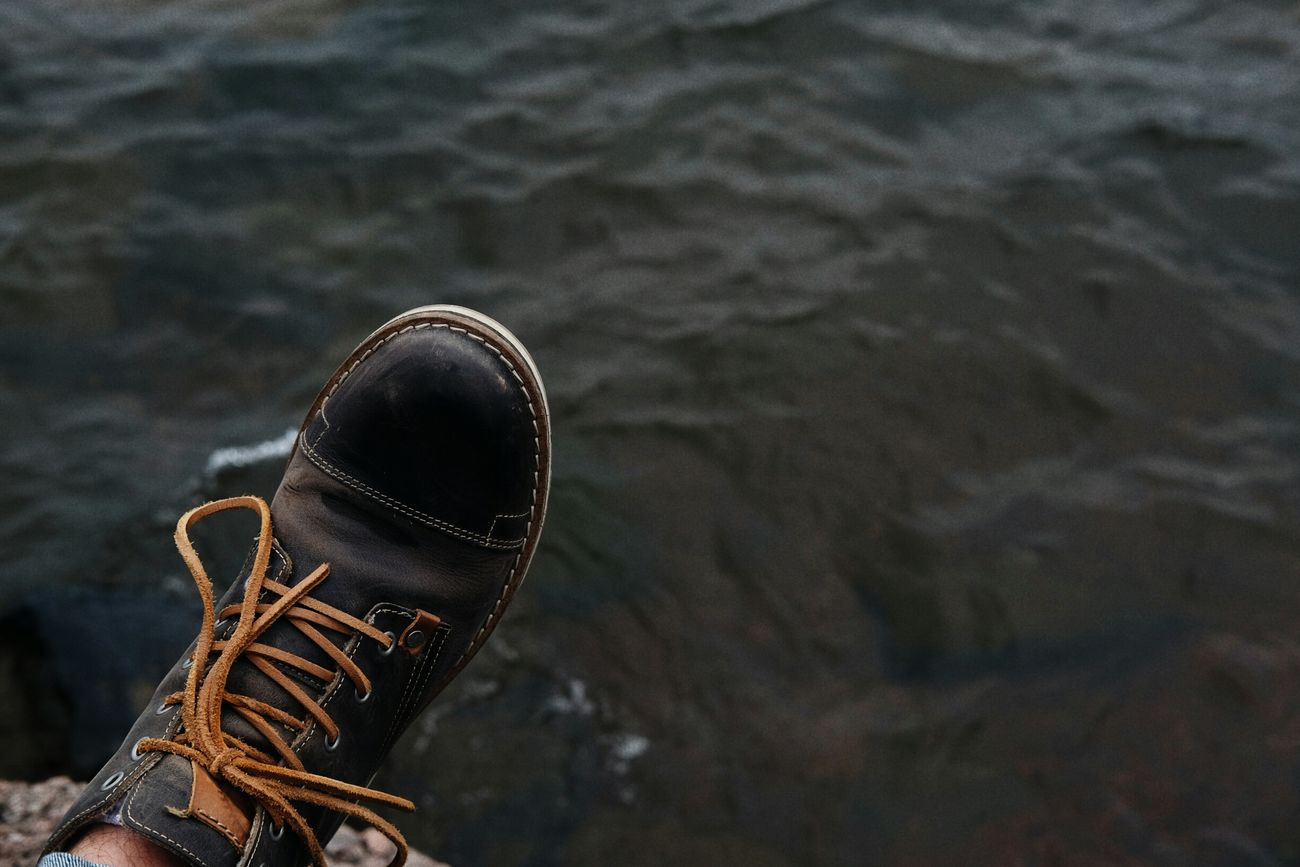 Personal Perspective Shoe Focus On Foreground Lifestyles Water Tranquility Outdoors Tourism FUJIFILM X-T1 Water_collection Fujifilm_xseries Lake Human Foot Fujifilm Vacations