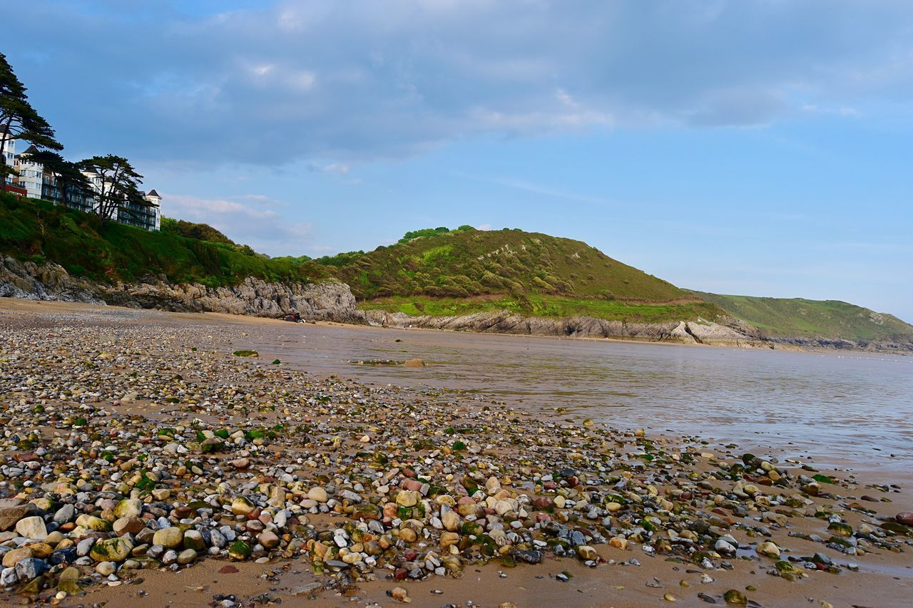 Taking Photos Coastline Landscape Sand Pebbles Beach Greenery Rocks Nikon D5500