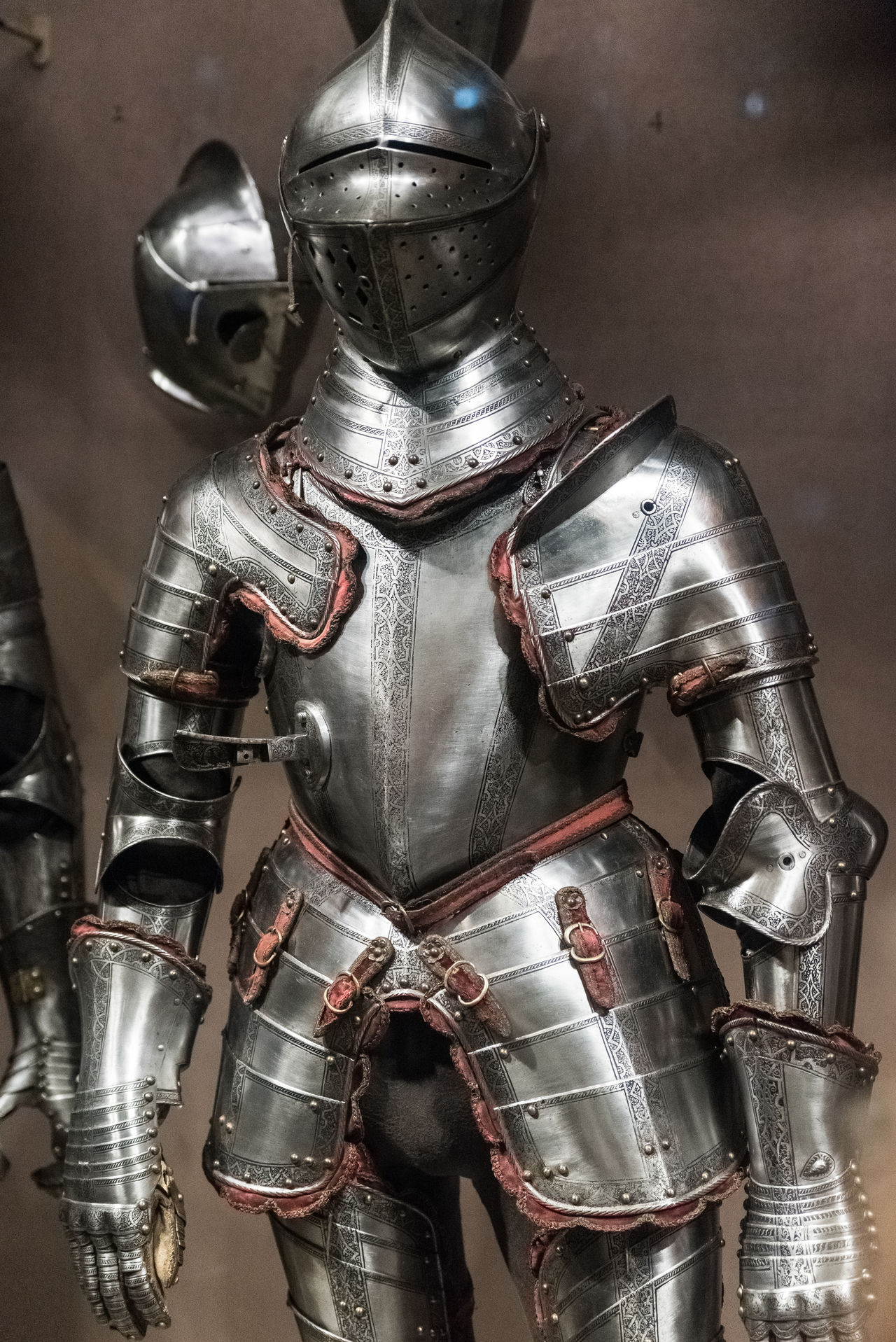 Army Helmet Close-up Day Futuristic Headwear Helmet History Indoors  Medieval Metal Military Museum No People Protection Protective Workwear Shield Shiny Silver Colored Space Suit Suit Of Armor Technology Weapon Work Helmet
