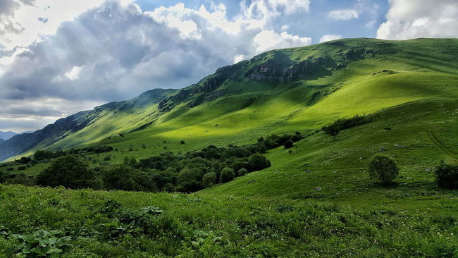 Spring Landscape Hills Ossetia Travel Vladikavkaz Fiagdon Natgeolandscape Autumn Fall Hill Mountain_collection Skyporn Redditphotography Travel Photography Summer Nature Highlandcollective Mountains Sky Clouds Gusara Koban
