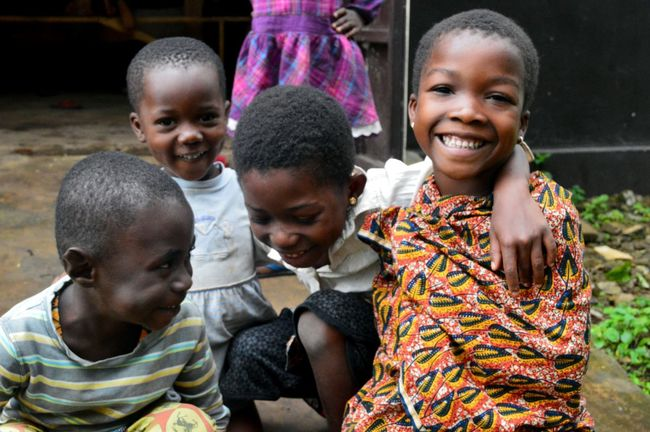 Africa African Cheerful Child Friendship Happiness Smiling Togetherness Togo
