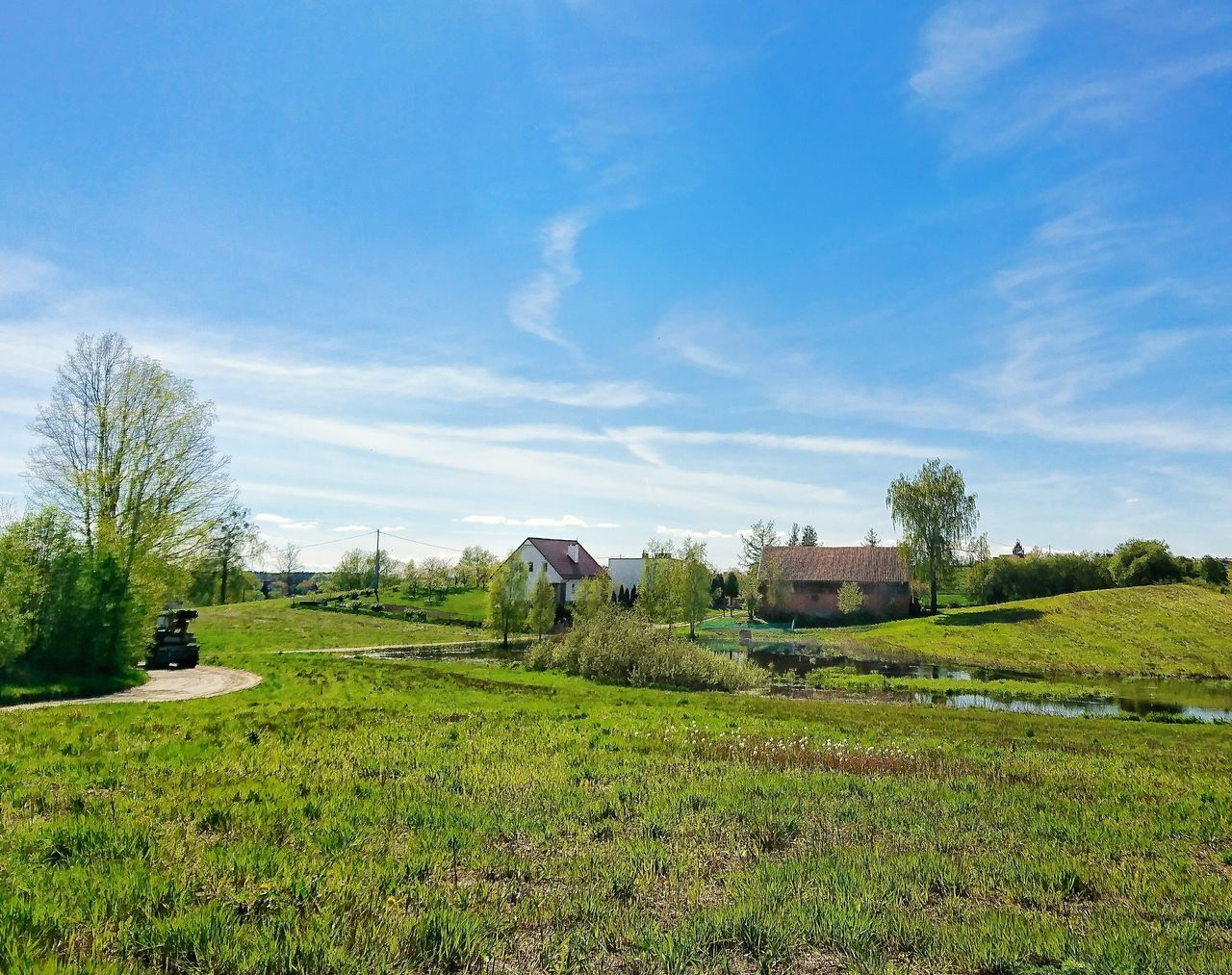 Field Nature Sky Beauty In Nature Grass Outdoors Scenics No People Day Spring Mazury Warmia Polska Poland Village Village Life Village View Village House Villagescape Village Photography Wies Spring Wiosna